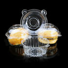 50/100pcs Large Single Plastic Cupcake/Muffin clear Boxes/Cases/Pods FREE P&P