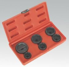 6 PIECE SET OIL FILTER CAP REMOVAL WRENCH SOCKET TOOL SET 24mm - 42mm