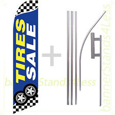 Feather Swooper Flutter Tall Banner Sign Flag 15' Kit - TIRES SALE checkered bb