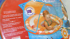 Baby Spring Float W/ Canopy 9-24 Mo Pool Water Introduction Training Swim Step 1