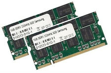 2x 1GB 2GB Samsung Speicher DDR 333 Mhz SODIMM PC2700 RAM SODIMM Notebook 200pin