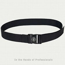 KLEIN TOOLS 5705 Power Line Web Work Belt, One-Size-Most-All - Black   NEW