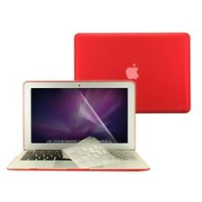 "3 in 1 Rubberized RED Case for Macbook AIR 13"" A1369 + Key Cover + LCD Screen"
