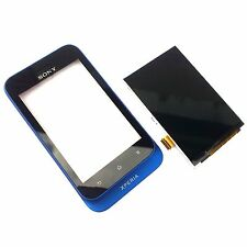 100% Genuine Sony Xperia Tipo ST21i front+digitizer touch screen+LCD display blu