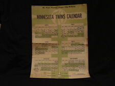 SUPER RARE Minnesota Twins 1970 St. Paul Pioneer Press Clip-N-Save Schedule COOL