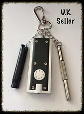 Handy Keyring. Torch, Whistle, 3 Pc Screwdriver. DIY Lovers Gift