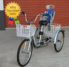 """Trike Bike 24"""" Adult Tricycle with BABY SEAT - Carry your child SAFELY"""