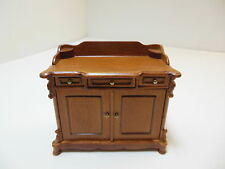 Dollhouse Miniatures Furniture 1/12: 4455wn Walnut  Cabinet