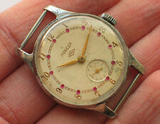 Early soviet POBEDA Petrodvorec watch Rare dial decorated with jewels '1950s