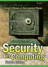 Security in Computing by Charles P. Pfleeger and Shari Lawrence Pfleeger (2006,…