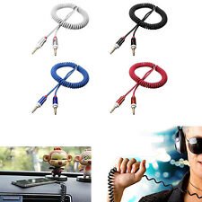 Flexible Audio Cable 3.5 mm Male Spring Wire AUX Vehicle-mounted Audio Cable New