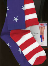 Leg Avenue 5604 Stars and Stripes Patriotic Knee Socks One Size Red White & Blue