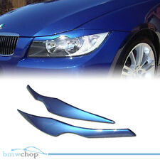 Painted BMW E90 3-series Headlight Eyelids Eyebrows Cover ABS New ◎