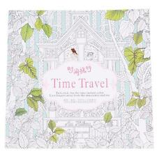 "New ""Time Travel"" Coloring Books for Adult Relaxation Stationery 14 Pages Gift W"