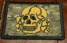 Totenkopf Skull Multicam Subdued Morale Patch Milspec Tactical Badge Dark Earth
