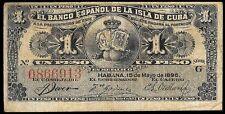 0136-BankNote 1.00 peso/1896 –El Banco Español de la Isla de Cuba