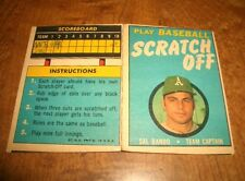 BASEBALL - SAL BANDO - 1970 TOPPS SCRATCH OFF CARD  - ACCEPTABLE CONDITION