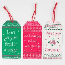 Sass & belle lot de 3 Décoration de Noël Plaque en métal avec message festif 15x7cm