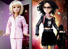 "REDUCED! 10 O'Clock Delilah Noir Ashton Drake 16"" Doll BJD 2 Outfits 2 Wigs Box"