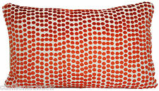 Rusty Red Cushion Cover Velvet Pierre Frey Dora Polka Dots Fabric Rectangular