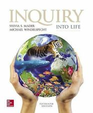 Inquiry into Life 15th Edition by Sylvia Mader  (2016, Looseleaf edition)