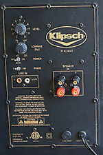 Klipsch KSW-10 Powered Subwoofer Amplifier Plate Repair Service