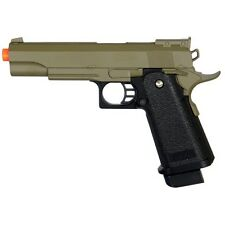 METAL SPRING AIRSOFT TAN M 1911 A1 FULL SIZE HAND GUN PISTOL AIR w/ 6mm BBs BB