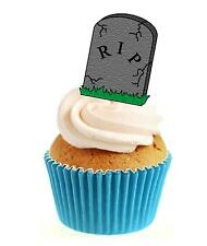 Novelty HALLOWEEN Headstone R.I.P 12 Edible Stand Up wafer paper cake topper