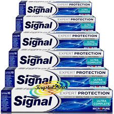 6x Signal Ultra Complete Expert Protection Micro Pure Technology Toothpaste 75ml