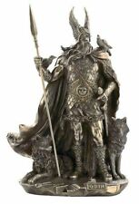 Odin Norse Viking Mythology God Bronze Finish Statue #WU75357A4