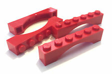*NEW* 4 Pieces Lego RED ARCH BRICK 1x6 Arches