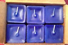 PartyLite OCEAN MIST Scent Plus Square Votive Candles K0264 New 6 Royal Blue NIB