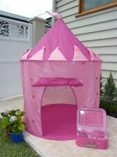Kids Children Indoor/Outdoor Play Tent Pop Up Cubby Toy with FREE TIARA AND WAND
