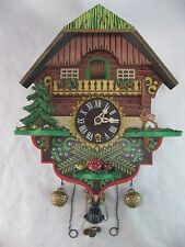 VINTAGE Germany Cuckoo Clock Style Clock GIRL ON SWING Parts or Restoration
