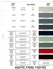 1941 BUICK CENTURY SPECIAL SUPER 41 ANDREW BROWN COMPANY BROLITE PAINT CHIPS