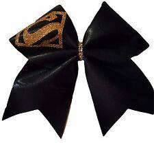 Superman Supergirl Mystique Spandex Gold Cheer Hair Bow