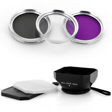 46mm DV-s Lens Hood + UV-CPL-FLD Filter Kit for Panasonic HDC SD900 SD800 TM900
