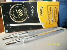 10 Bic pens, Limited edition 60th anniversary, silver plate edition .