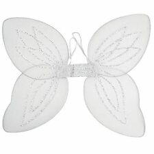 Adult Ladies White Net Angel Fairy Fancy Dress Costume Wings BA002