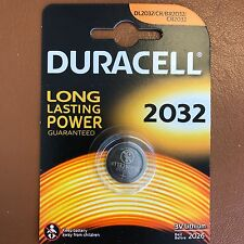 New Duracell CR2032 3V Lithium Button Battery Coin Cell DL/CR 2032 Expiry 2026