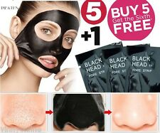 5 Pcs PILATEN Bamboo Charcoal Facial Nose Blackhead Remover Mask Cleansing Strip
