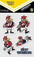 620027 SYDNEY ROOSTERS NRL SET OF 5 MASCOT DECALS CAR STICKERS ITAG