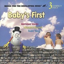 Baby's First: Birthday Songs/Nursery Rhymes/Fairy Tales 3 CD SET Various Artists