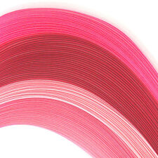 100 quilling self adhesive paper strips in shades of pink - 3mm  wide