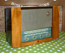 1955 PYE Fen Man 1 Refurbished Wood Case FM Valve Radio Vintage Display Fenman