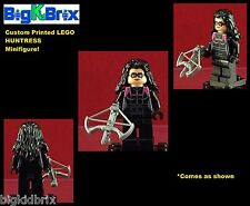 HUNTRESS DC Comics Custom Printed LEGO Minifigure w/Custom CROSS BOW