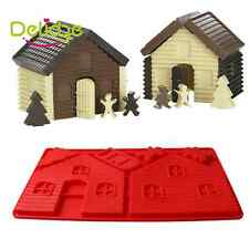 New silicone christmas house mold chocolate fondant biscuit cookies Diy mould