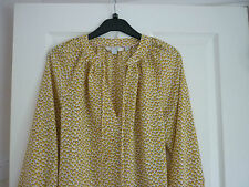 BODEN POLLY TOP SAFFRON YELLOW BUBBLES UK 16 REG, EUR 42-44, US 12. NWOT WA736