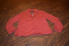 D2- Eddie Bauer Long Sleeve Button Down Jacket Size Small