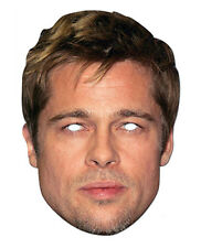 Brad Pitt Celebrity 2D Careta De Cartón Fiesta Disfraz Hollywood Actor Estrella